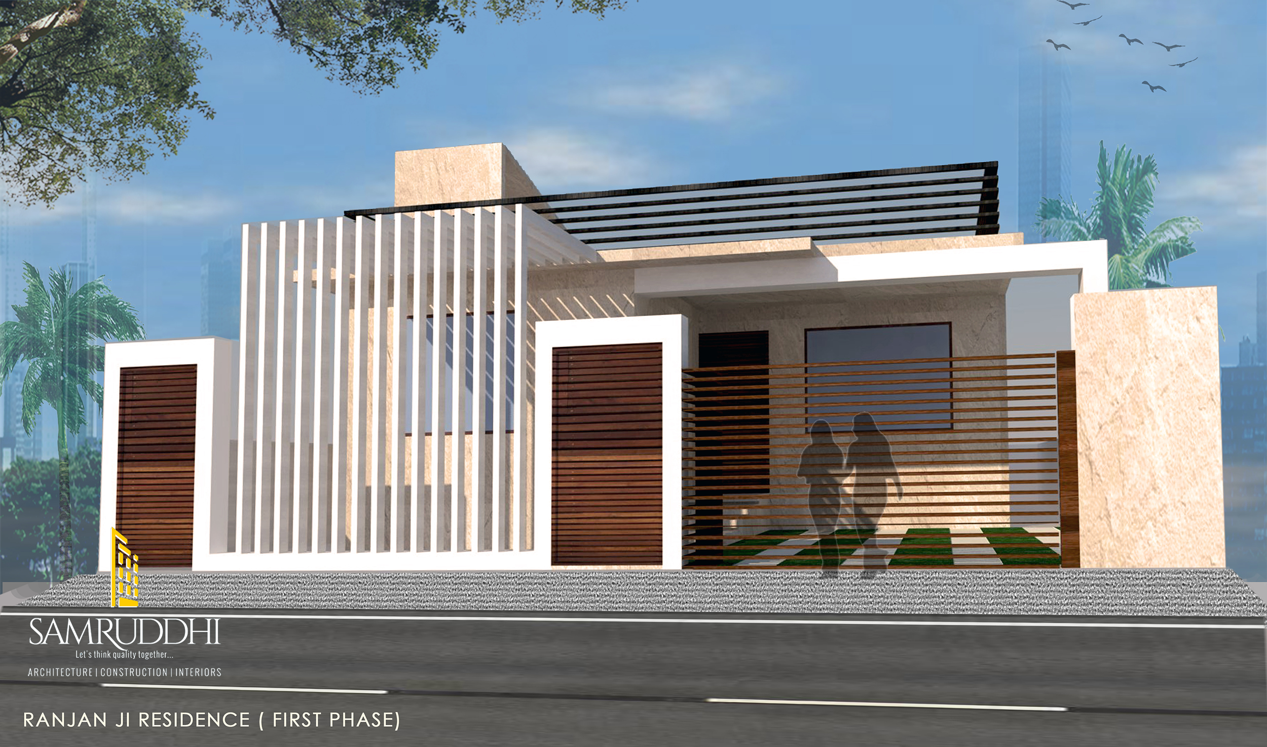 Ground Floor Elevation Quote : Mr ranjan s residence samruddhi architecture
